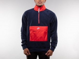 HALF ZIP CORE WINTER BLUE RED pas cher & discount