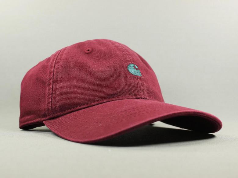 MADISON LOGO CAP MERLOT