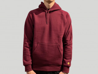 HOODED CHASE SWEAT 'MERLOT/GOLD pas cher & discount