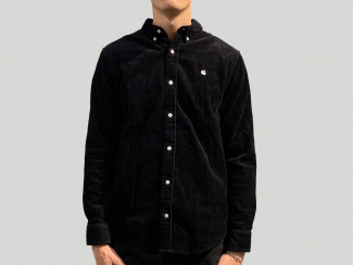 L/S MADISON CORD SHIRT BLACK/WHITE pas cher & discount