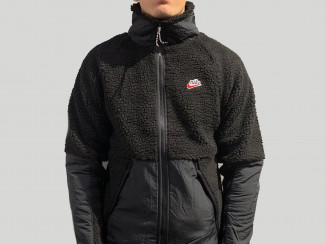 M NSW HE SHERPA JACKET BLACK  pas cher & discount