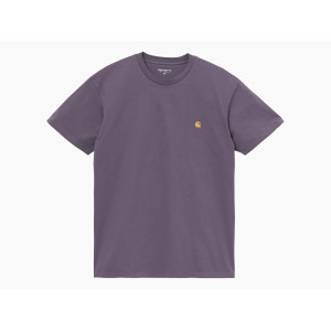 CARHARTT WIP S/S CHASE T-SHIRT PROVENCE/GOLD pas cher & discount