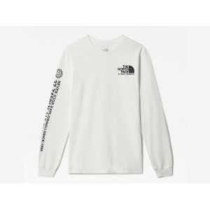 THE NORTH FACE COORDINATES L/S TEE TNF WHITE pas cher & discount