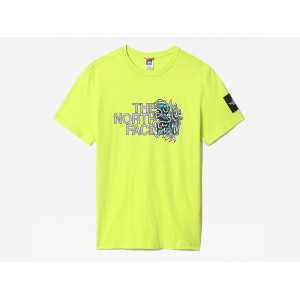 THE NORTH FACE BLACK BOX SS GRAPHIC TEE SULPHUR SPRING GREEN pas cher & discount