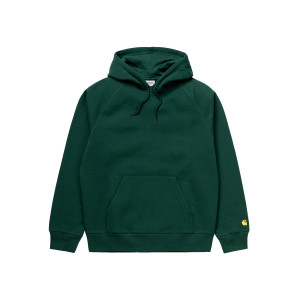 CARHARTT WIP HOODED CHASE SWEAT TREEHOUSE/GOLD pas cher & discount