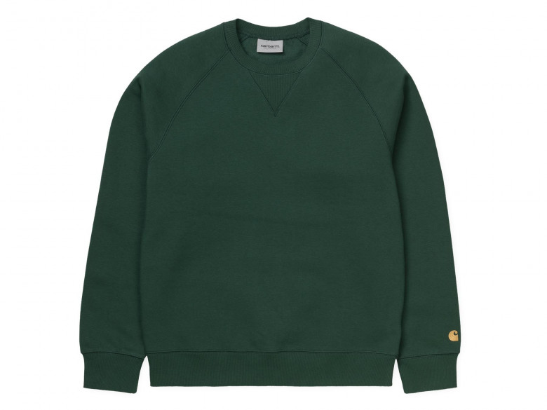 CARHARTT WIP CHASE SWEAT TREEHOUSE/GOLD