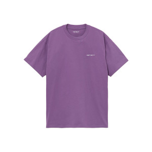 CARHARTT WIP S/S SCRIPT EMBROIDERY T-SHIRT ASTER/WHITE pas cher & discount