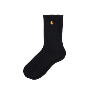 CARHARTT WIP CHASE SOCKS BLACK/GOLD pas cher & discount