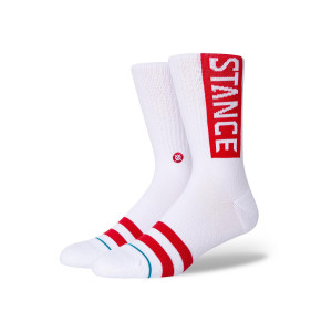 STANCE OG WHITE/RED pas cher & discount