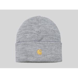 CARHARTT WIP CHASE BEANIE GREY HEATHER/GOLD pas cher & discount